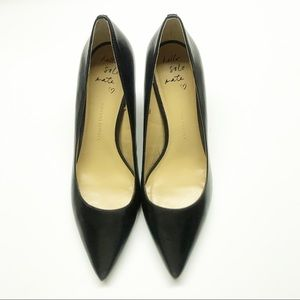 Banana Republic Pointed Toe Black Leather Pumps